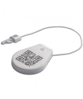 Seal Tag eTamper HF ICODE SLIx 17.5x27x3.3 mm white 60 mm cable QR