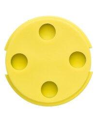 Bin Tag LF FDX-B BDE (EN14803) 30 mm Yellow No logo