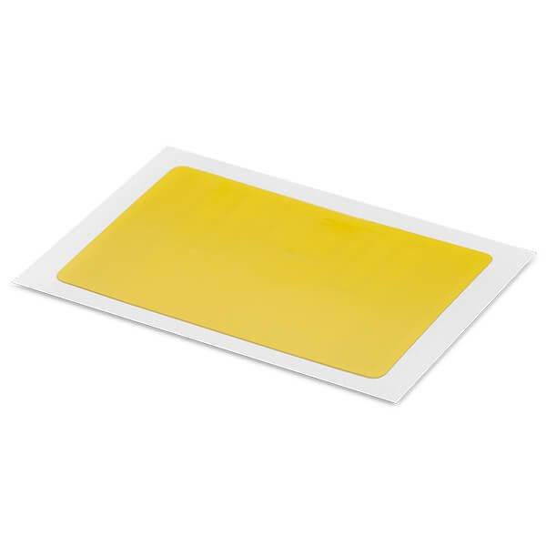 Label PET yellow rect 34x54MM UHF MR6-P