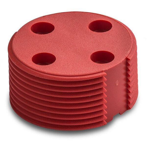 Bin Tag LF HDX BDE (EN14803) 30 mm Red No logo